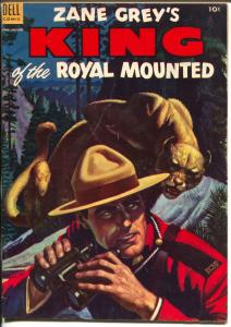 King of The Royal Mounted #12 1953-Dell-Zane Grey-RCMP-FN-