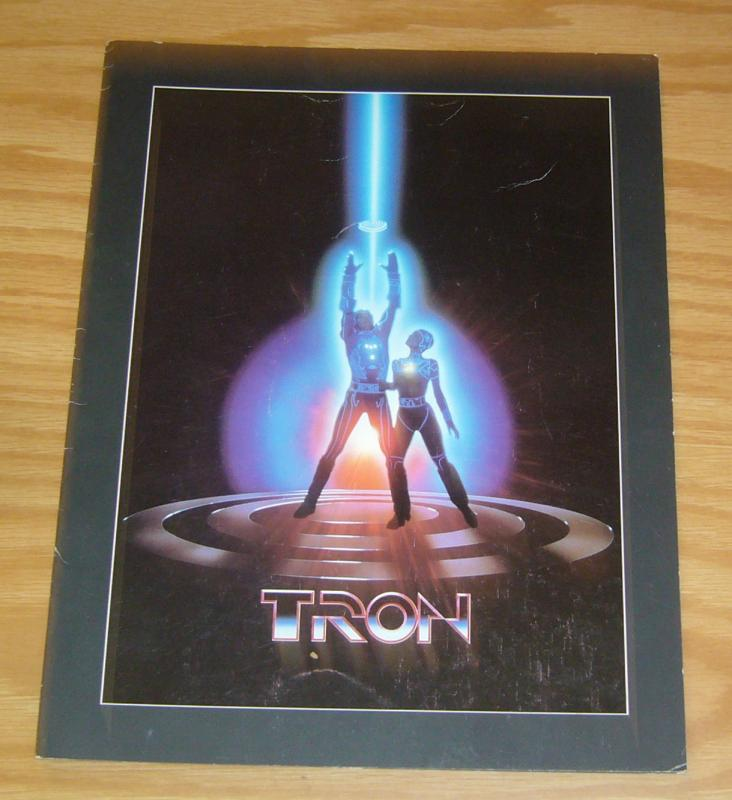 TRON FN motion picture fold-out flyer 1982 rare movie promo