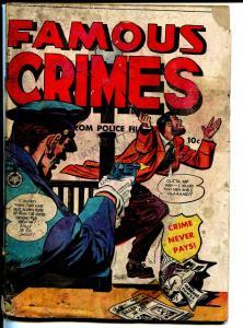 Famous Crimes #7 1949-Fox-SOTI-Tarzan-The Wyoming Killer-G-