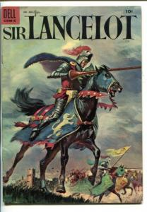 SIR LANCELOT -FOUR COLOR COMICS #606-SWORDFIGHTS-KNIGHtHOOD-vg/fn
