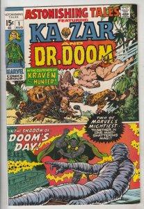 Astonishing Tales #1 (Aug-70) VF+ High-Grade Ka-Zar, Doctor Doom