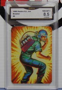 1986 Hasbro GI Joe Breaker Series #1 Card #6 - Graded NM-MT+ 8.5