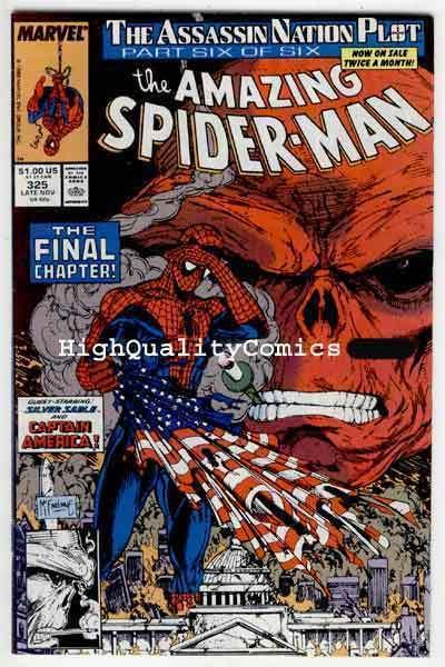 AMAZING SPIDER-MAN #325, VF+, Red Skull, Todd McFarlane, more ASM in store