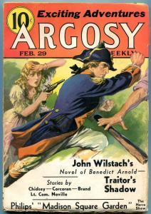 Argosy Pulp February 29 1936- Max Brand- Benedict Arnold- Wilstach