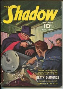 The Shadow 2/1/1942-Death Diamonds-pulp thrills-FN