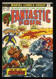 Fantastic Four #138 FN+ 6.5 Marvel Comics