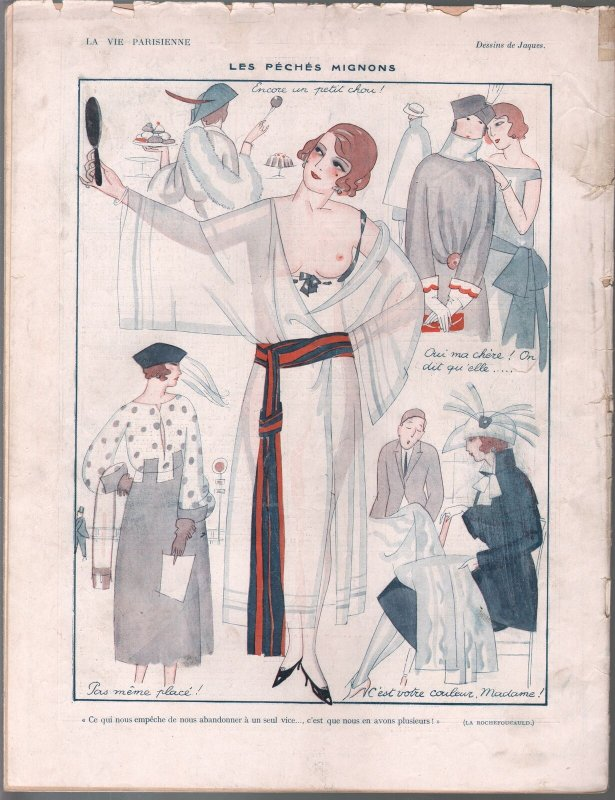 La Vie Parisienne 11/12/1921-spicy early French girlie mag-Good Girl Art-VG