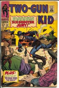 Two-Gun Kid  #92 1968-Marvel-final original series issue-Whitney-Kurzrok-VG