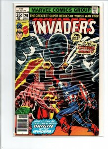 The Invaders #29 newsstand - Captain America - Teutonic Knight - 1978 - VF