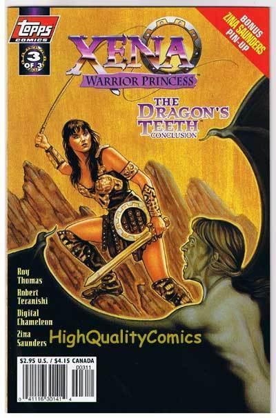 XENA WARRIOR PRINCESS Dragon 3, NM+, Lucy Lawless,1997, more Xena in store