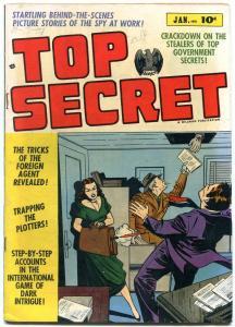 TOP SECRET #1 SECRET AGENTS SPIES PRE CODE VIOLENCE '52 VG/FN