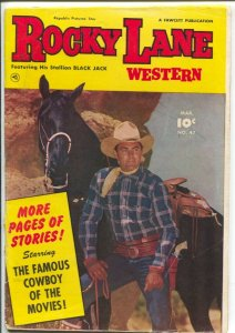 Rocky Lane Western #47-1953-Fawcett- B-Western movie star photo cover-VG