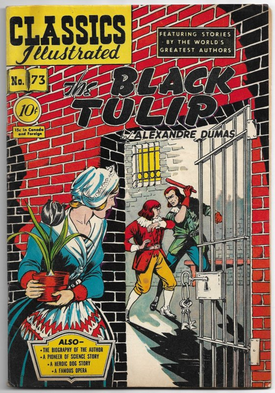 Classics Illustrated #73 The Black Tulip (1950) FN - 1st (only) printing