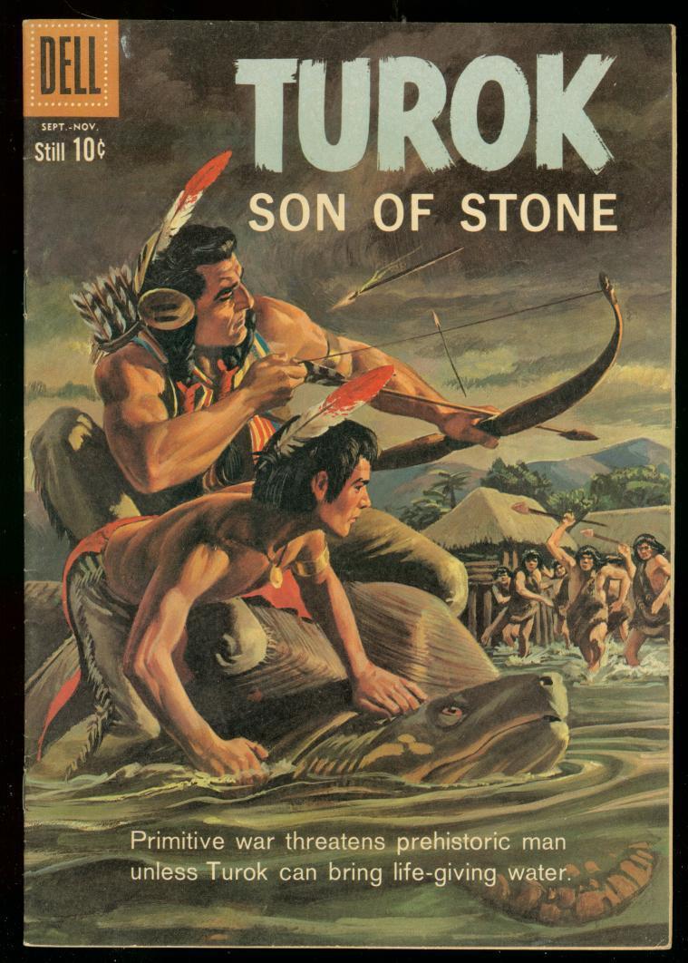 Turok Son Of Stone 21 1960 Dell Comics Dinosaur Art Vf Hipcomic