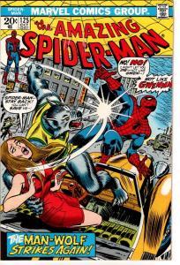 AMAZING SPIDER MAN #125 ORIGIN MAN WOLF $25.00