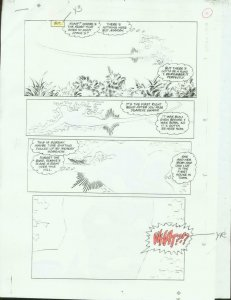 ORIGINAL D.C. PRODUCTION ART NEW TEAM TITANS #6 PAGE 9 VG