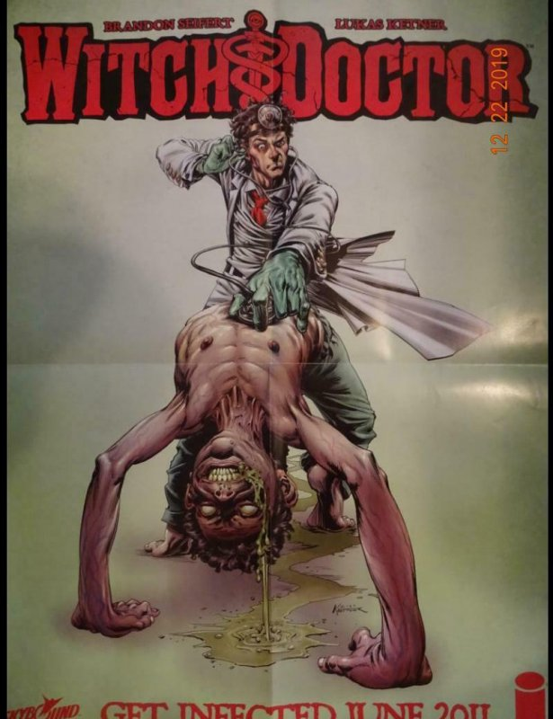 WITCH DOCTOR Promo Poster, 18 x 24, 2011, IMAGE  Unused more in our store 390