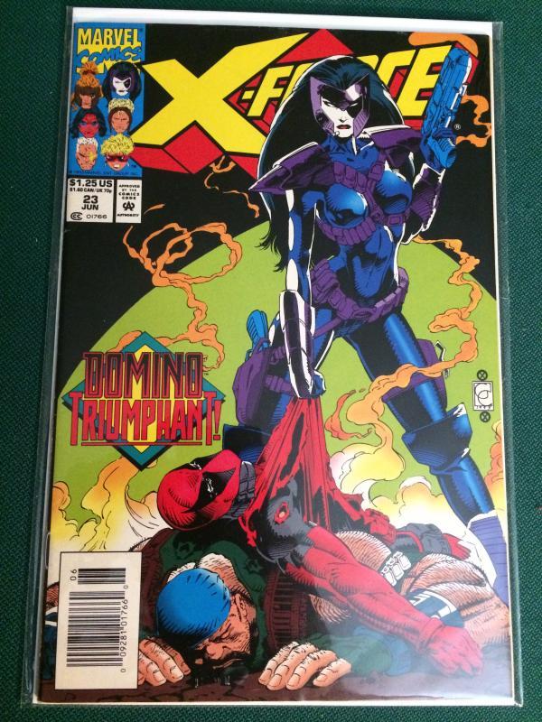 X-force #23 Domino vs Deadpool