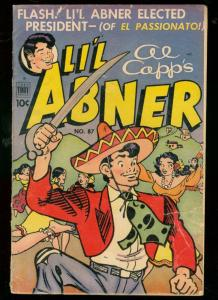 LI'L ABNER #87 1952-AL CAPP-TOBY COMICS-CRAZY ART ISSUE VG