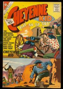CHEYENNE KID #29 1961-CHARLTON COMIC-GATLING GUN-INDIAN VF