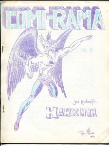 Comi-rama #3 1964-Hawkman-Jery Bails inspired-early superhero fanzine-VF-