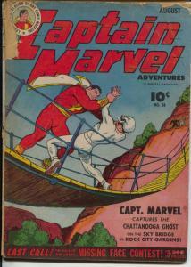 Captain Marvel Adventures #38 1944-Fawcett-Chattanooga Ghost G-