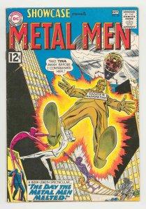 SHOWCASE #40 METAL MEN .1962. BRILLIANT COVER COLORS - KEY TITLE - HI GRADE VF-