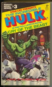 Incredible Hulk Paperback Book #3-82085-0 1979-Stan Lee-Cry Of The Beast-FN