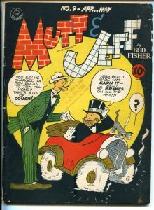 Mutt & Jeff #9 1943-DC-Bud Fisher art-WWII era comic book-VG