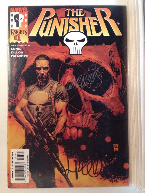 Punisher 1-12 Complete Near Mint Lot Set Run Plus The Cell Signed 1 Ennis