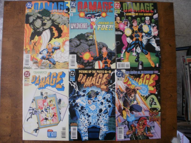 6 DC Damage Comic Books