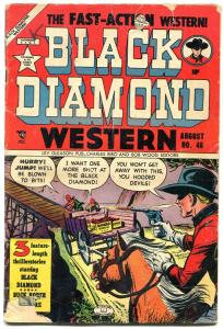 BLACK DIAMOND WESTERN #46 1953 LEV GLEASON GUNFIGHTS G+