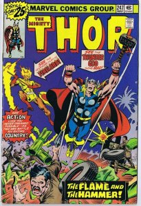Thor #247 ORIGINAL Vintage 1976 Marvel Comics Firelord
