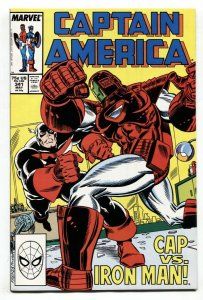 Captain America #341 comic book - 1988-1st Rock Python NM-