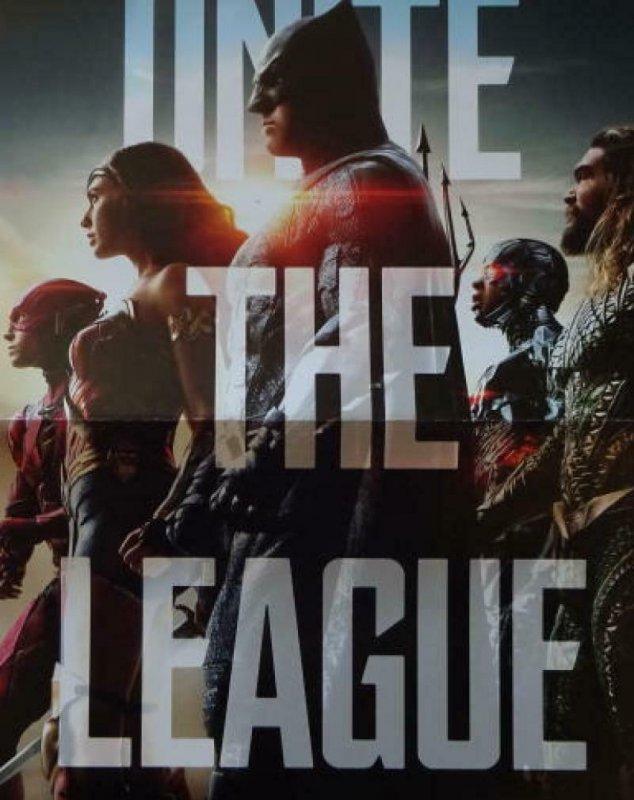 UNITE THE LEAGUE  Promo poster, 11 x 17, 2017, DC BATMAN WONDER WOMEN Unused 017