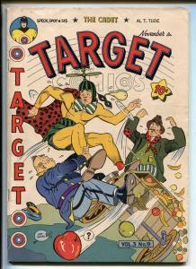 TARGET  VOL 3 #9-1942-NOVELTY PRESS-SPACEHAWK-WOLVERTON-MICKEY SPILLANE-fn