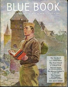 BLUE BOOK PULP-JULY 1945-VG/FN-STOOPS COVER-KEYNE-DIXON-BRANDON VG/FN
