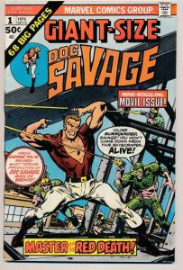 Marvel Comics GIANT-SIZE Doc Savage #1 Key Issue (1975) ~ VG/FN (PF257)