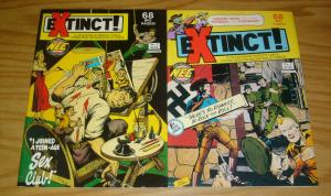 Extinct! #1-2 VF/NM complete series - perfectly awful stories from golden age