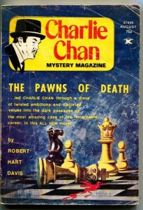 CHARLIE CHAN PULP MAGAZINE-Aug 1974-CRIME & DETECTIVE STORIES-4th ISSUE-rare
