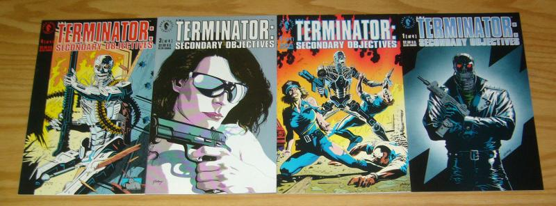 Terminator: Secondary Objectives #1-4 VF/NM complete series JAMES ROBINSON 1991