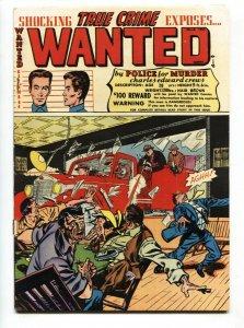 Wanted #46 comic book 1952- Tommy gun cover- Kansas City Killer VG+