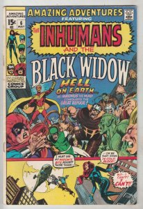 Amazing Adventures #6 (May-71) VF High-Grade Black Widow, Inhumans