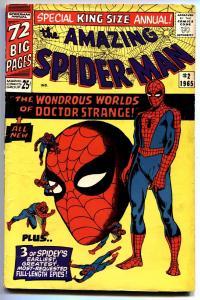 AMAZING SPIDER-MAN ANNUAL #2 1965 Doctor Strange Ditko fn