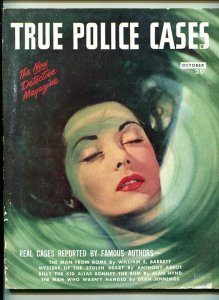 TRUE POLICE CASES -#1-OCT 1946-PULP-CRIME-SOUTHERN STATES PEDIGREE- fr/good
