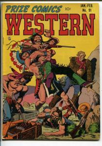 PRIZE COMICS WESTERN #91 1952-JOHN SEVERIN-WILL ELDER-INDIANS-vf minus