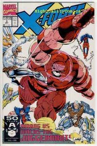 X-FORCE #3 4 5 6, NM+, vs Juggernaut, Spider-man, ShatterStar,1991,more in store