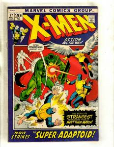 Uncanny X-Men # 77 VG Marvel Comic Book Angel Beast Professor X Cyclops HY1
