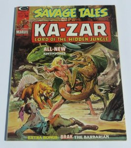 Savage Tales #6 VF- Ka-Zar Lord of the Hidden Jungle Magazine Neal Adams 1974