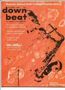 Down Beat 10/1/1970-Jefferson Airplane-YusefnLateef-pix-music history-G/VG